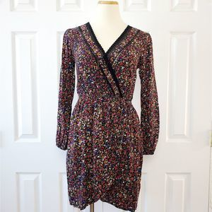 Band of Gypsies Faux Wrap Floral Dress
